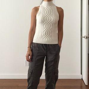 Intermix sleeveless wool/cashmere sweater, XS